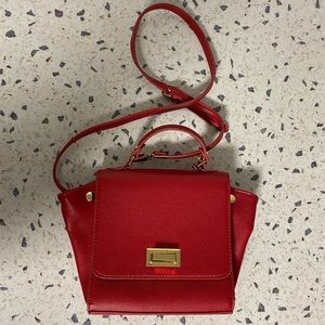 Mini red crossbody bag